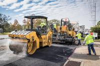 Asphalt road contstruction